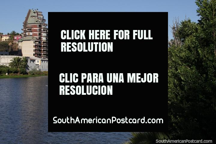 Apartments and office buildings beside the estuary in Vina del Mar. (720x480px). Chile, South America.