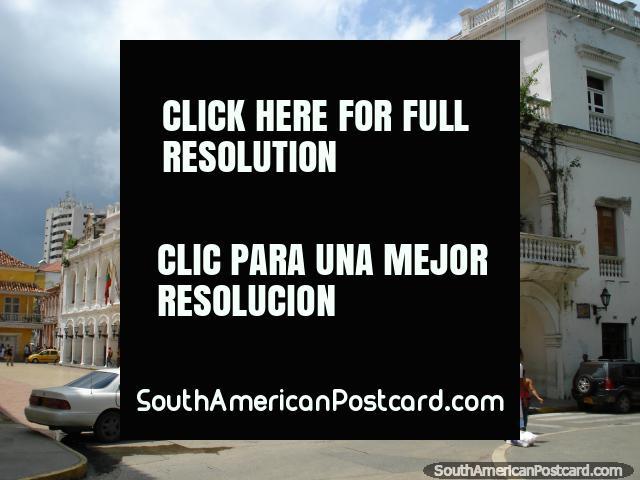 Palacio de la Gobernacion - Government Palace in Cartagena. (640x480px). Colombia, South America.