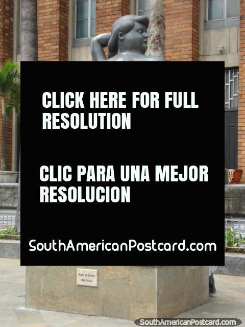 Bronze work Rapto de Europa (Abduction of Europe), 1991, Plaza Botero Medellin. (480x640px). Colombia, South America.