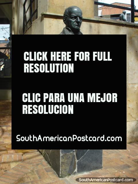 Statue of Andres Bello in Bello north Medellin. (480x640px). Colombia, South America.