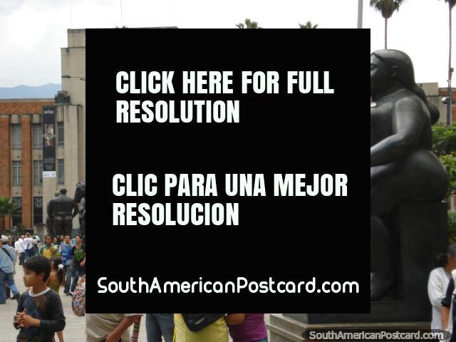 Plaza Botero in Medellin is a big tourist attraction. (640x480px). Colombia, South America.
