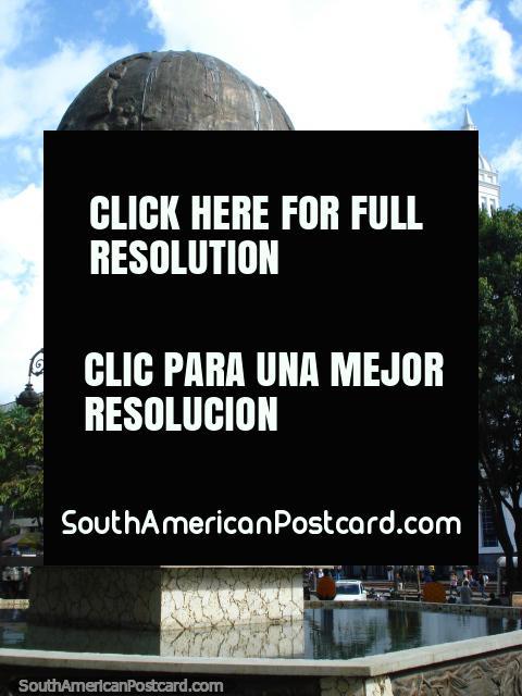 Calentamiento Global em Santander Parque, Bucaramanga - destaca o aquecimento global. (480x640px). Colômbia, América do Sul.