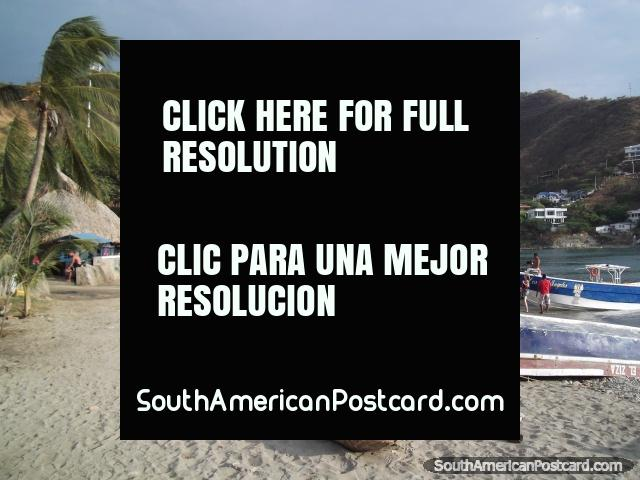 A view across the beach at Taganga. (640x480px). Colombia, South America.