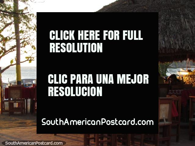 Restaurante Taganga Cactus with sea views and yummy food. (640x480px). Colombia, South America.