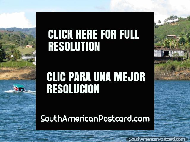 Pablo Escobars old mansion on the lagoon edge is a popular site in Penol. (640x480px). Colombia, South America.