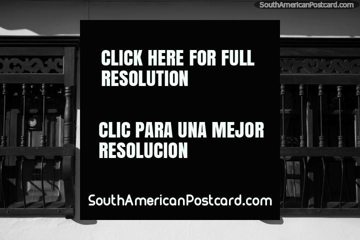 La fotografía en blanco y negro en Villa de Leyva se adapta al carácter de las calles. (720x480px). Colombia, Sudamerica.