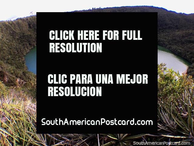 O cacique Guatavita Lagoa - sagrado, as viagens partem durante o dia de Guatavita. (640x480px). Colômbia, América do Sul.