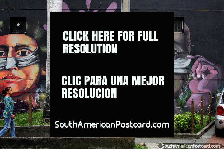 Cali tiene un increíble arte callejero alrededor de la ciudad, ¡busca y lo encontrarás! (720x480px). Colombia, Sudamerica.