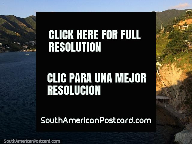 Taganga bay on the northern coast where people flock by the thousand at holiday time. (640x480px). Colombia, South America.