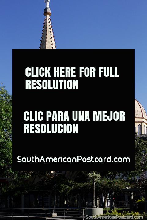 Church beside the Lake Park (Parque El Lago) in Pereira - Church San Antonio Maria Claret. (480x720px). Colombia, South America.