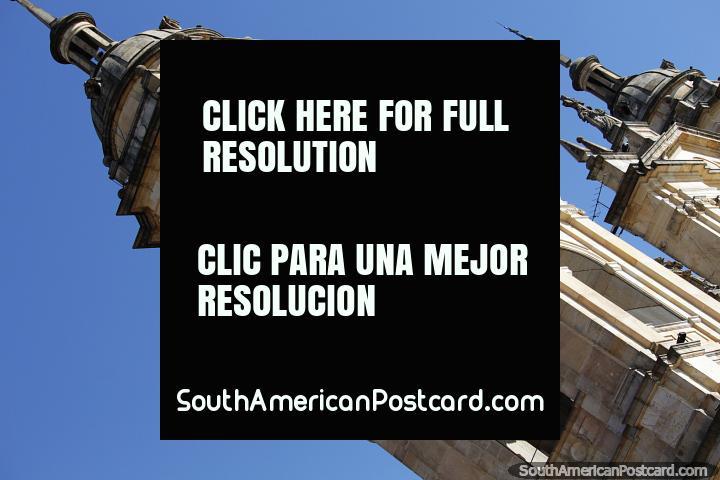 A segunda construção da Catedral de Bogotá foi em 1572 após o primeiro desabamento. (720x480px). Colômbia, América do Sul.