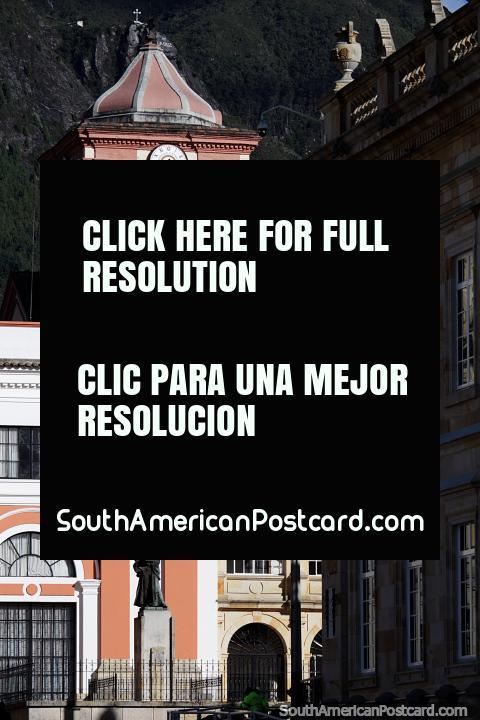 San Bartolome College in Bogota, located at Plaza Bolivar, a prestigious building. (480x720px). Colombia, South America.