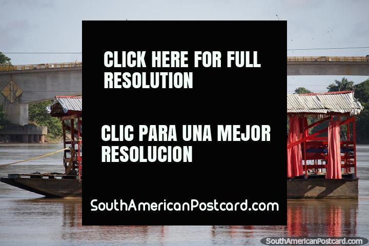 Travel over water or over the bridge, it's your choice in Monteria. (720x480px). Colombia, South America.