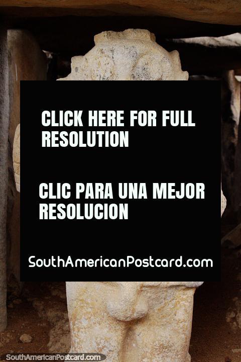 Half stone figure, half robot, Alto de los Idolos, Isnos. (480x720px). Colombia, South America.