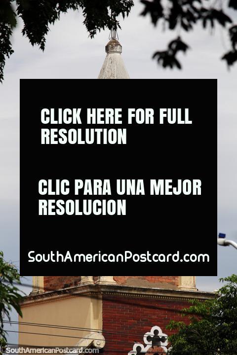 Asilo De Ancianos Rudesindo Soto, old church at Colon Park in Cucuta. (480x720px). Colombia, South America.