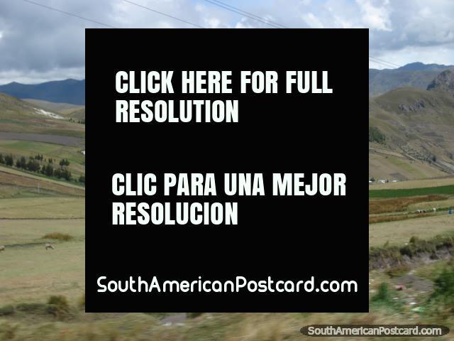 Cenário que abre o olho entre Pujili e Zumbahua. (640x480px). Equador, América do Sul.