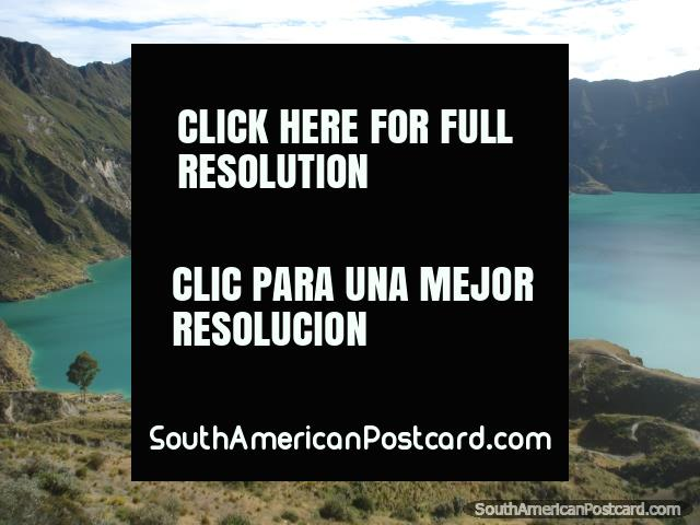 Quilotoa Laguna asombroso. (640x480px). Ecuador, Sudamerica.