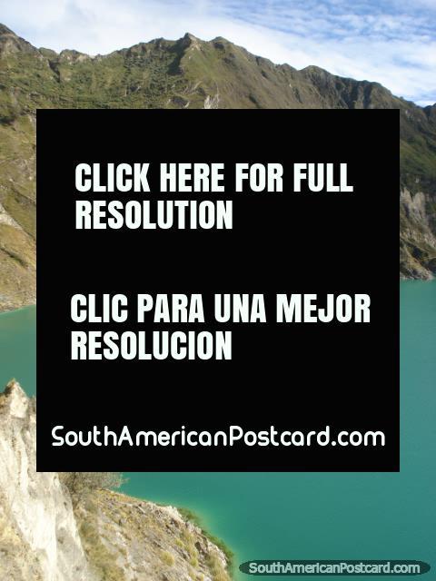 View of Quilotoa Laguna. (480x640px). Ecuador, South America.