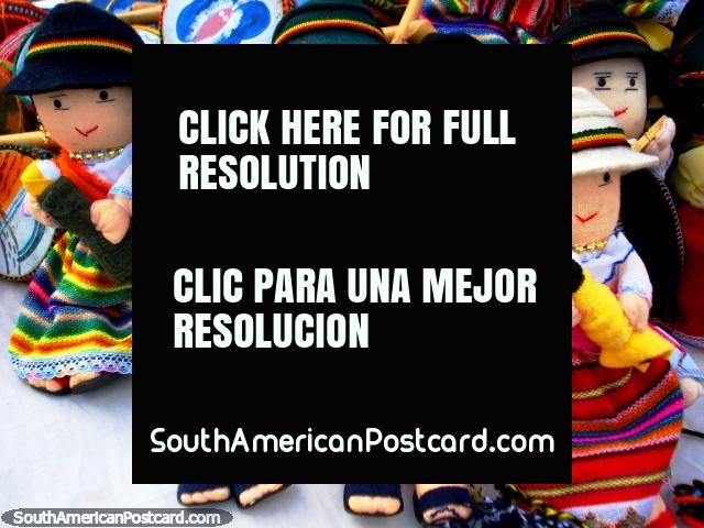 Colorful indigenous dolls in Otavalo. (640x480px). Ecuador, South America.