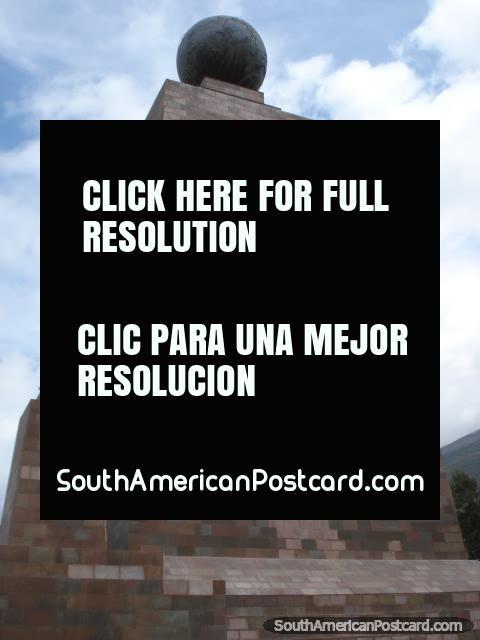 Memoria del Sabio Ecuatoriano, memorial at Mitad del Mundo. (480x640px). Ecuador, South America.