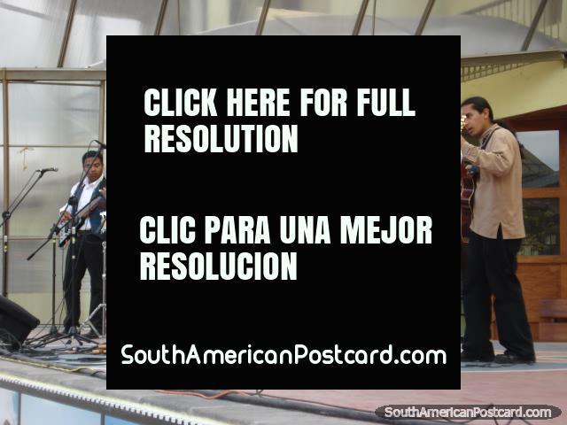 Live band playing at Mitad del Mundo. (640x480px). Ecuador, South America.