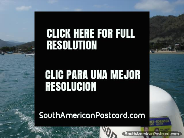 Leaving Puerto Lopez and heading out to Isla de la Plata by boat. (640x480px). Ecuador, South America.