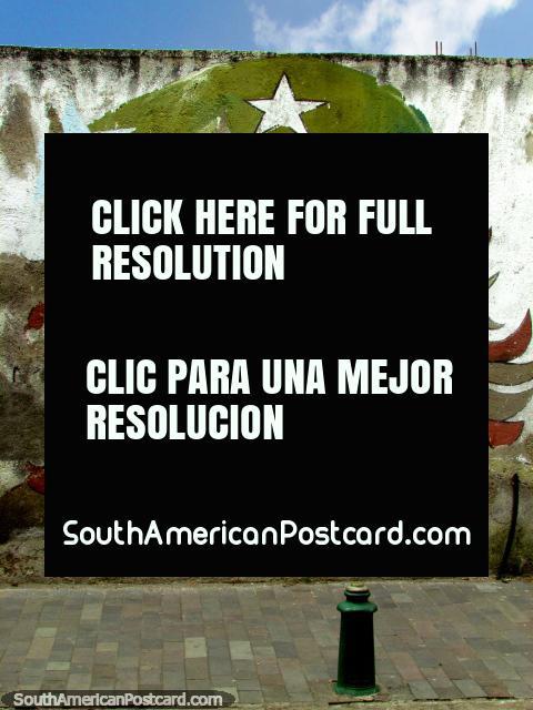 Arte de la pared de Che Guevara en Cayambe. (480x640px). Ecuador, Sudamerica.