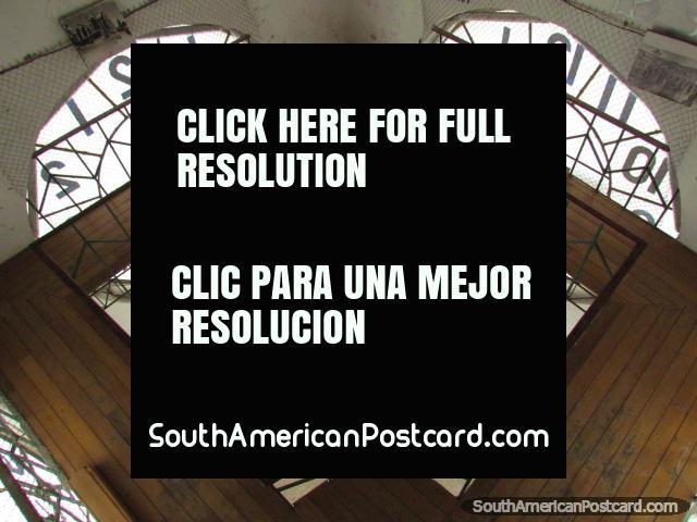 The clock room mechanics at Quito church, Basilica del Voto Nacional. (640x480px). Ecuador, South America.