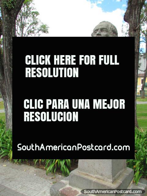 Pedro Bouguer monument in Park La Alameda in Quito. (480x640px). Ecuador, South America.