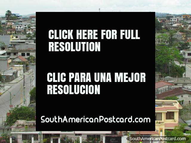 Houses and skyline of the city of Puyo. (640x480px). Ecuador, South America.