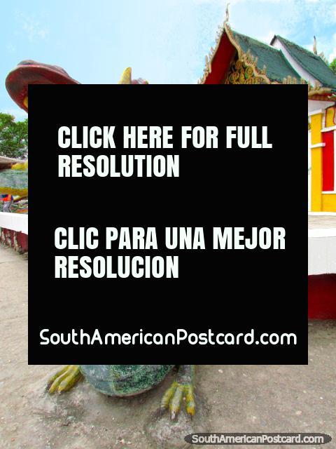Dragão asiático em Parque Recreativo de Jipiro em Loja. (480x640px). Equador, América do Sul.