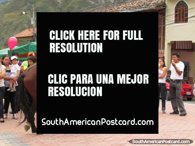 Festival fun and horse games in Vilcabamba. (640x480px). Ecuador, South America.