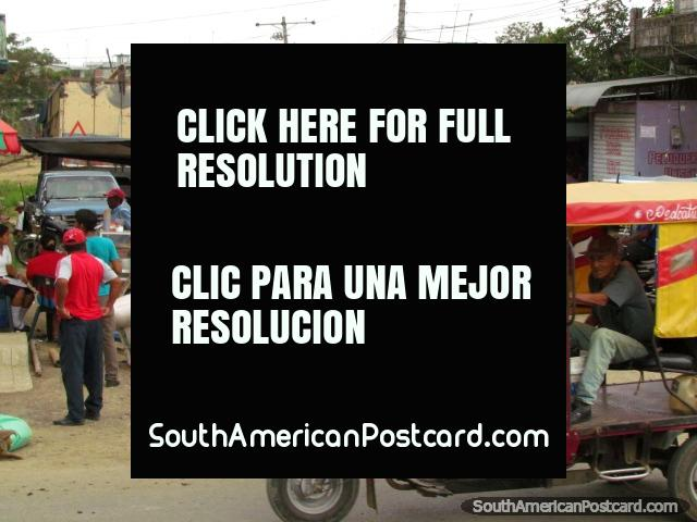 Mototaxis buzz around Pedro Carbo. (640x480px). Ecuador, South America.