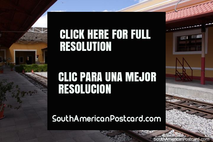 The train station in central Riobamba. (720x480px). Ecuador, South America.