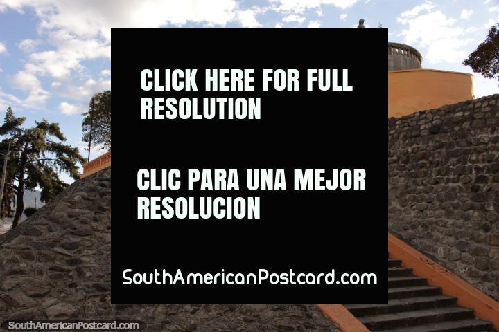 The staircase up to the park - Parque 21 de Abril in Riobamba. (720x480px). Ecuador, South America.