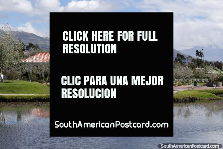 Views of the hills around Colta Lagoon, nice place. (720x480px). Ecuador, South America.