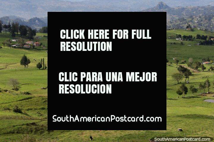 Communities of farms in a beautiful area between Canar and Biblian. (720x480px). Ecuador, South America.