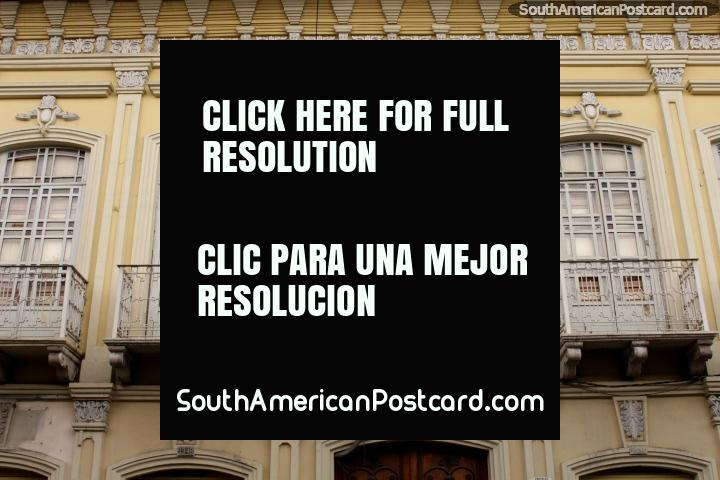 The colonial building where Ramon Borrero Cortazar (1824-1895) was born in Cuenca, ex-President. (720x480px). Ecuador, South America.