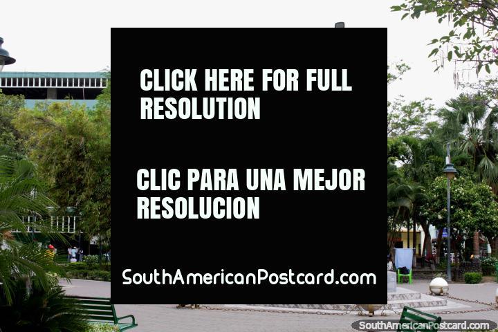 Central park in Esmeraldas - Parque Central 20 de Marzo (20th of March Park). (720x480px). Ecuador, South America.