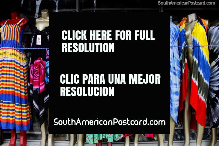 Beautiful beach dresses for women for sale beside the beach in Atacames. (720x480px). Ecuador, South America.