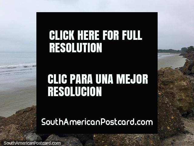 Mompiche Beach, imagine with blue sky and hot sun shining, looks good. (640x480px). Ecuador, South America.