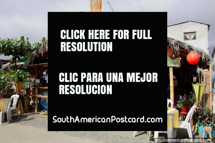 The Jungle, bar, cafe and restaurant in Canoa, the mid-coast. (720x480px). Ecuador, South America.