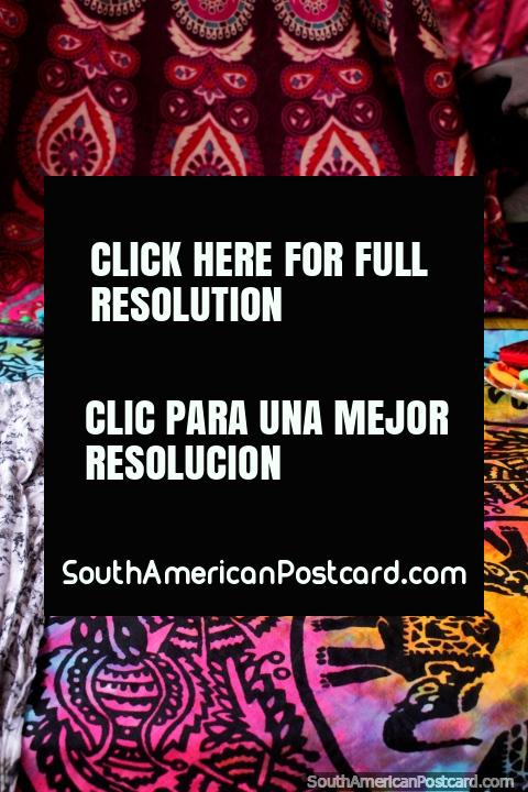 Radiant colors and designs, colorful wall sheets available in Montanita. (480x720px). Ecuador, South America.