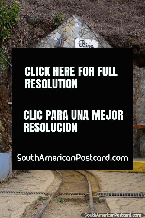 Entrance of the gold mine El Sexmo in Zaruma, lets go inside. (480x720px). Ecuador, South America.