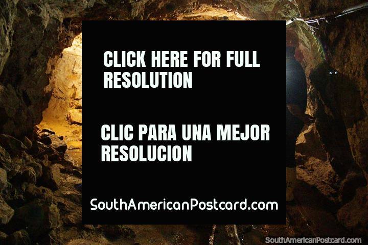 El Sexmo gold mine in Zaruma, a 30 minute tour in the tunnels. (720x480px). Ecuador, South America.