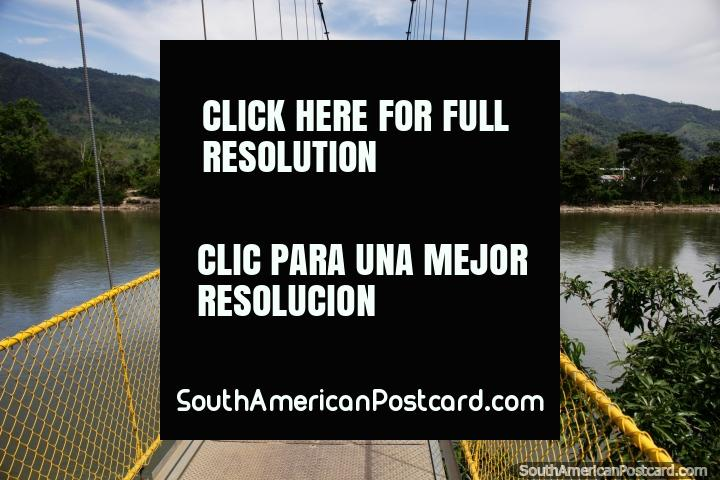 From Yantzaza go over the bridge across the Zamora River to Rica Beach. (720x480px). Ecuador, South America.