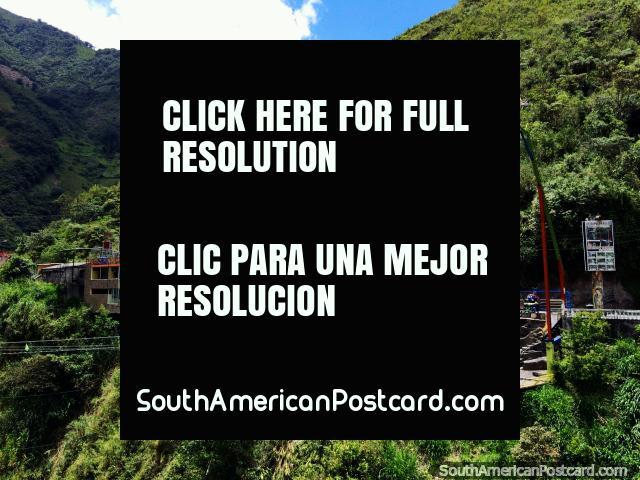 Mega Adventure Park Rio Blanco, canopy rides in Banos. (640x480px). Ecuador, South America.