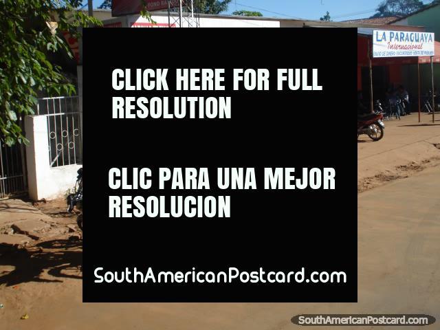 Motorbikes and bike shop between Ciudad del Este and La Colmena. (640x480px). Paraguay, South America.