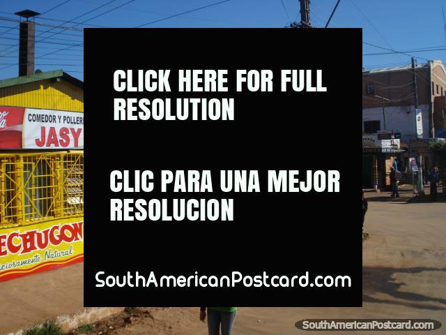 Polleria Jasy (chicken) and street between Ciudad del Este and La Colmena. (640x480px). Paraguay, South America.