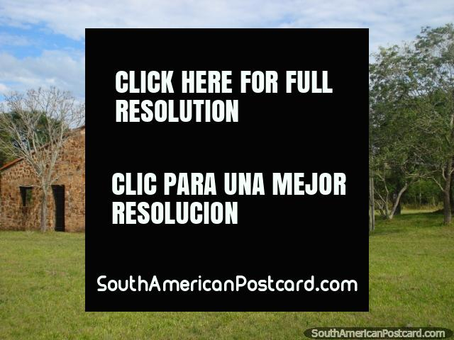 The stone and brick building from the outside, Ybycui National Park. (640x480px). Paraguay, South America.